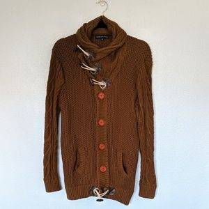 Sweaters - Gorgeous Golden Brown Chunky Knit Cardigan